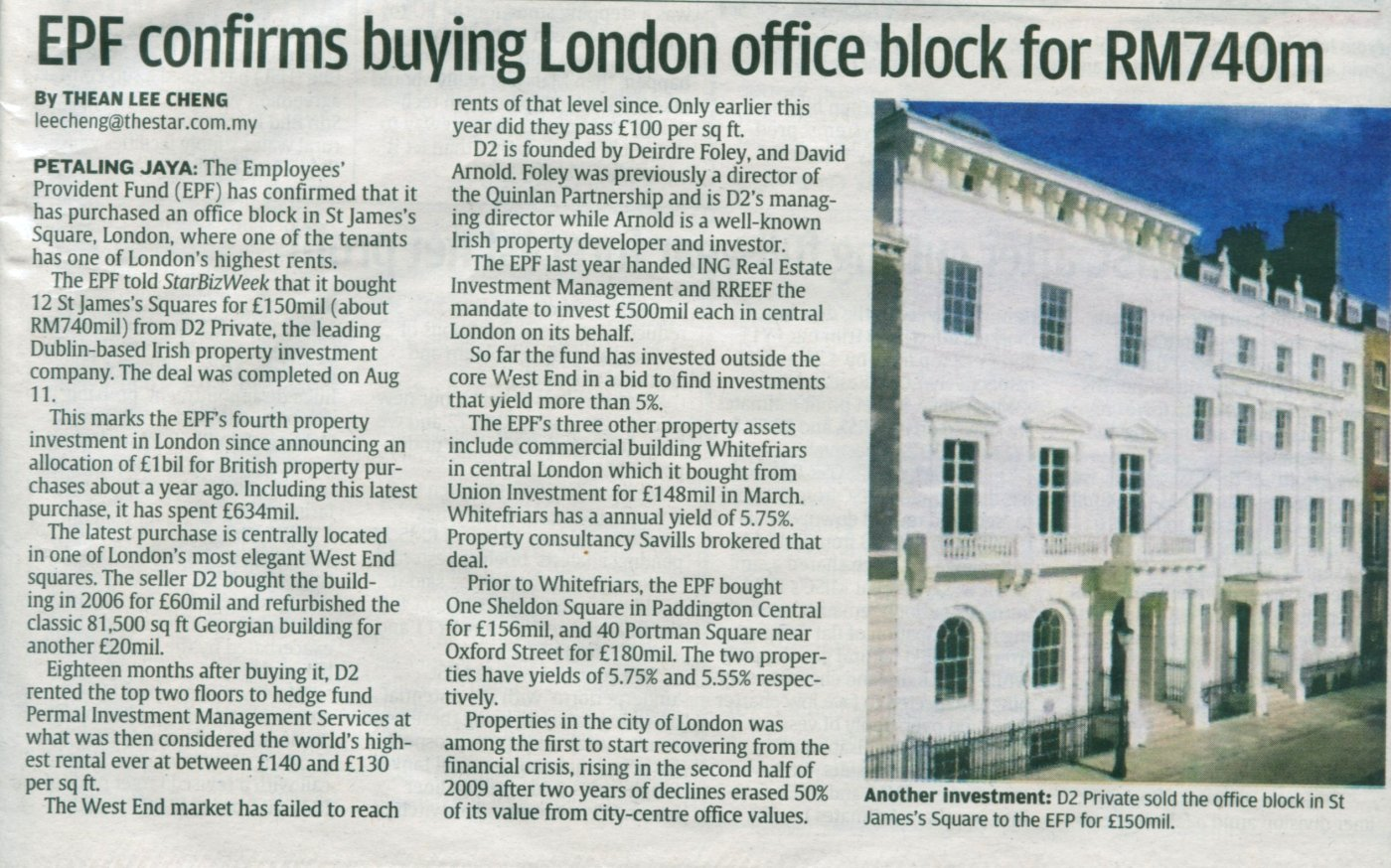 EPF Purchased UK Properties