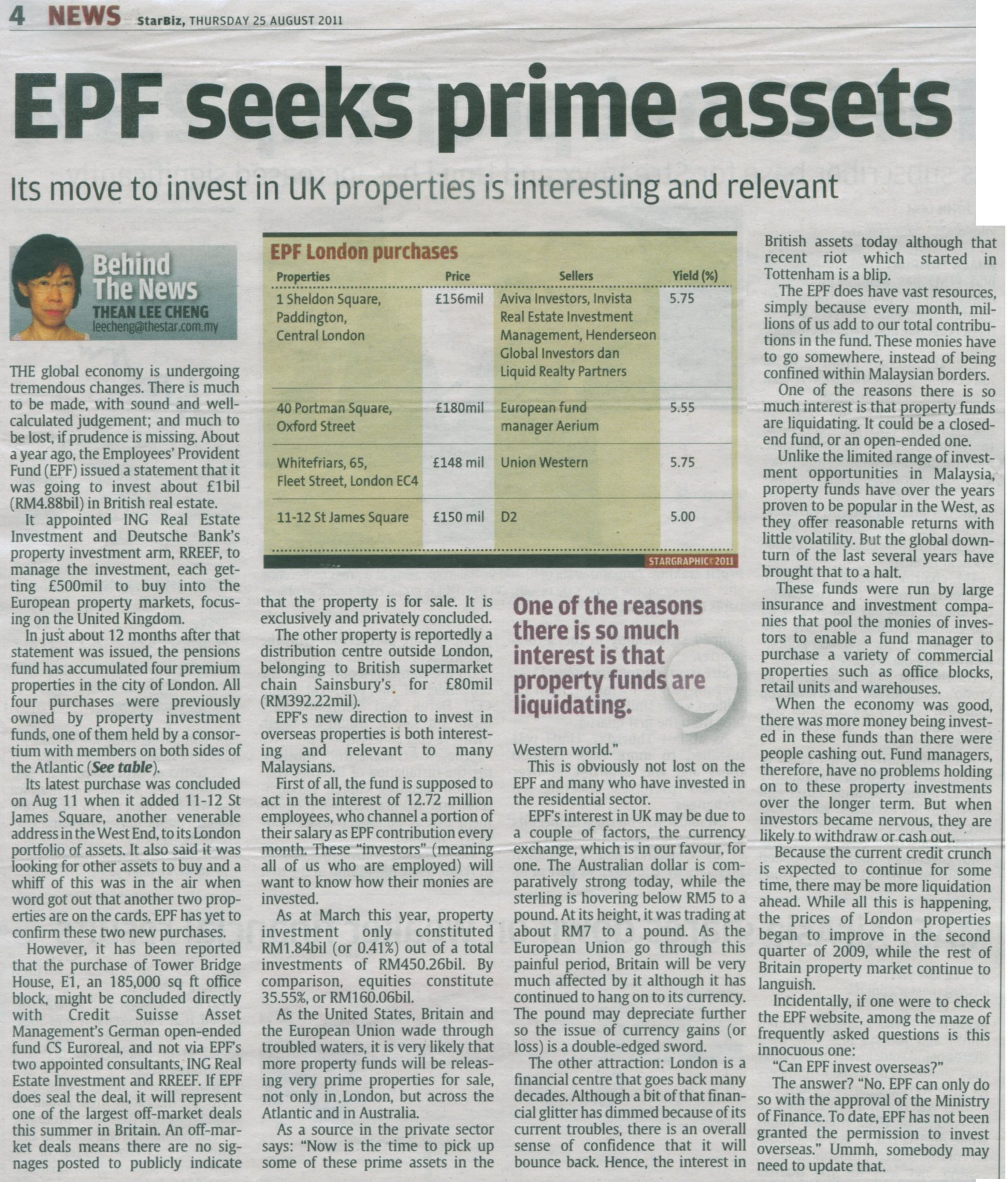 EPF Can Purchase UK Properties?