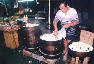Pau sold in Pasar Malam