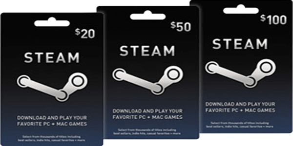 Steam Wallet and many other online games card