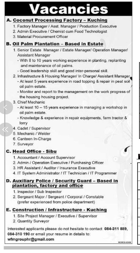 accountant, supervisor and other jobs available